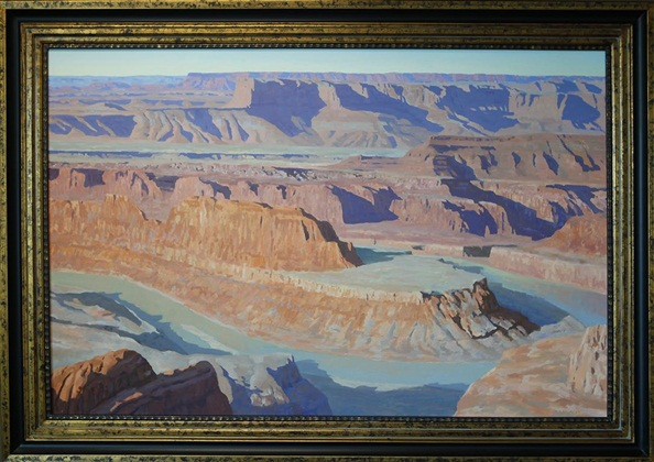"Dead Horse Point, Frank Ray Huff, 48"" x 72,"" oil on  canvas, 2010"