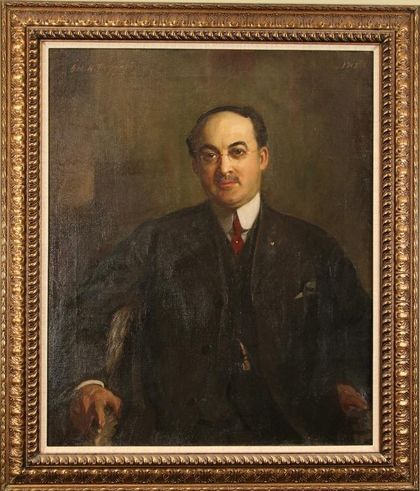 "Businessman, Taggart, 30"" x 36,"" oil on canvass, 1904"