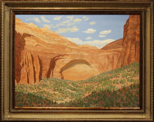 "Zions, Frank Ray Huff, 30"" x 40,"" oil on canvas, 2009"