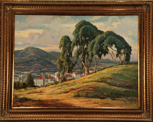 "View from the Hill, Gordon Cope, 36"" x 42,"" oil on board, 1954"